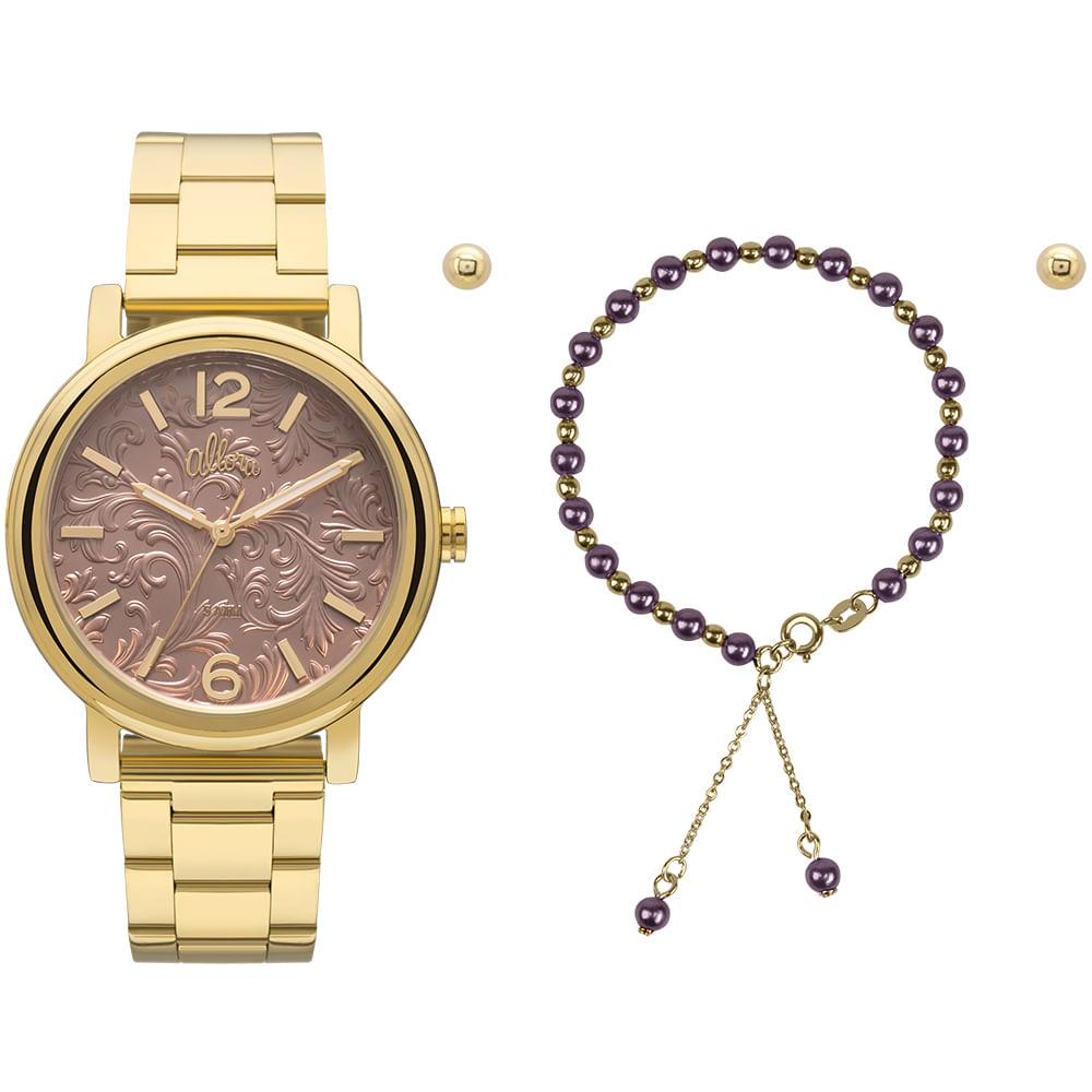 5f703ba1718 Relógio Allora Feminino AL2036CH K4M - Dourado - timecenter