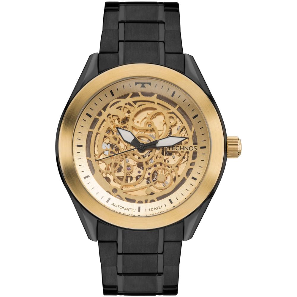 61e5236628326 Relógio Technos Masculino Automatic 8N24AI 4X - Preto - timecenter