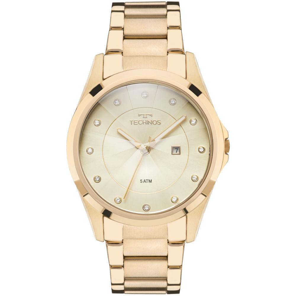 GN10AS4X. GN10AS4X. Technos. Relógio Technos Feminino Elegance Crystal  Dourado ... 564785abd8