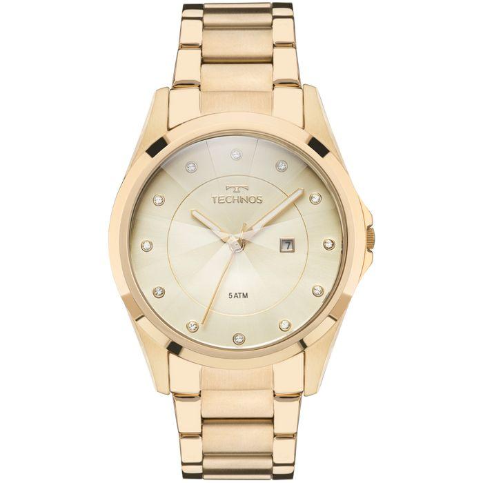 Relógio Technos Feminino Elegance Crystal Dourado - GN10AS 4X - technos 66396091ee