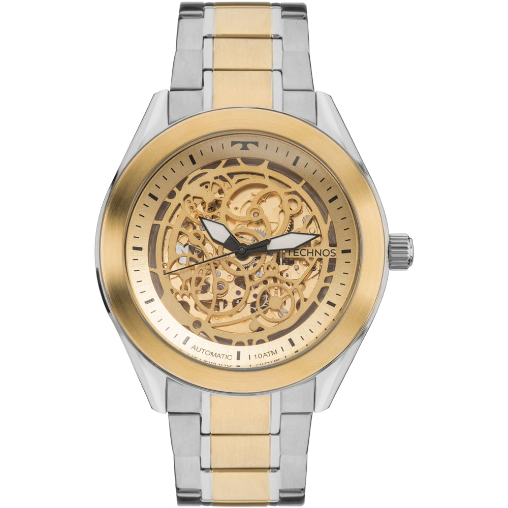 ab1d7edf2b3 Relógio Technos Masculino Automatic 8N24AJ 4X - Dourado