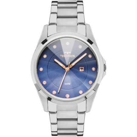 Relógio Technos Feminino Elegance Crystal Prata - GN10AT/1A