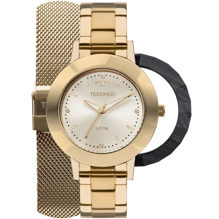 Relógio Technos Feminino Unique 2035MLJ T4X - Dourado - technos 531ed54189
