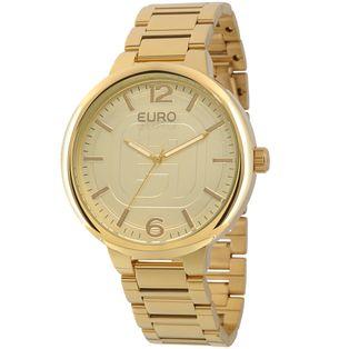 7112013169a EU2036LYTK4D Ver mais. EU2036LYT 4D Relógio Euro Feminino Dourado ...