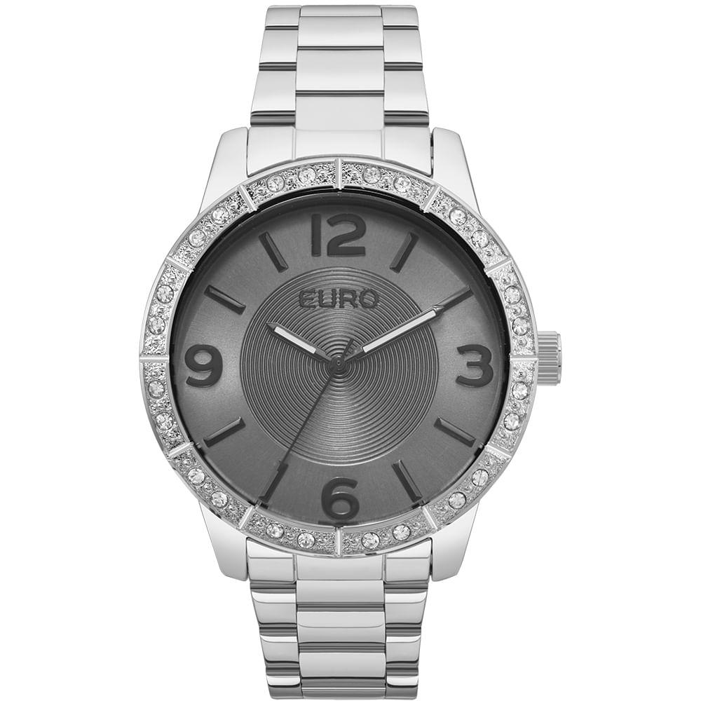 Relógio Euro Feminino On The Rocks EU2036YLP 3K - Prata - timecenter 113a8fa22e