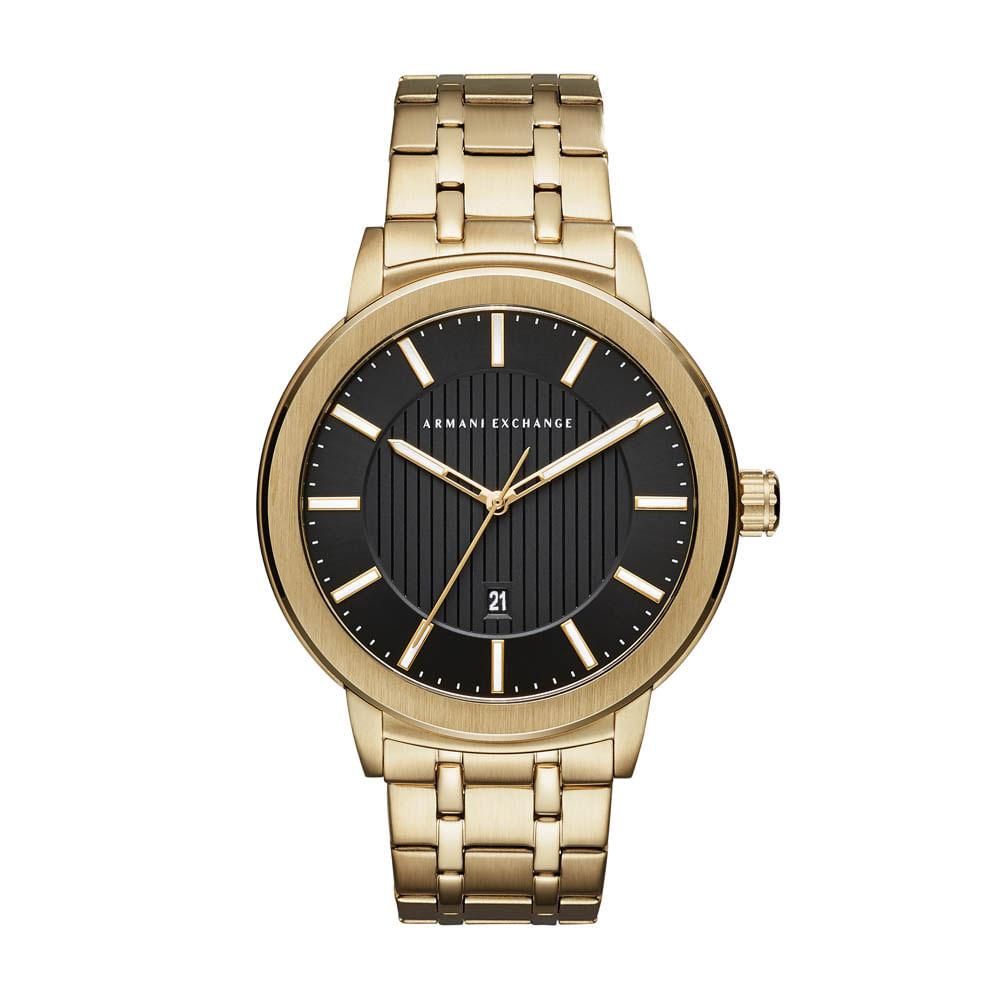 Relógio Armani Exchange Dourado AX1456 4PN - timecenter 23b1e30cea