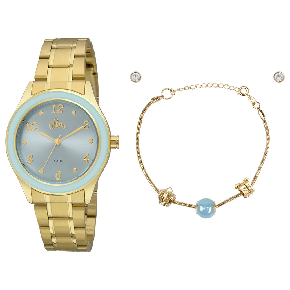 a0dc4b82c0c Relógio Allora Feminino AL2035FID K4Z - Dourado - timecenter