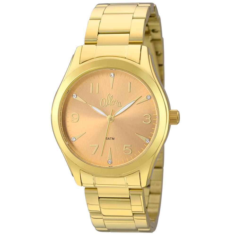 aac3aacd7d4 Relógio Allora Feminino AL2035FKL K4L - Dourado - timecenter