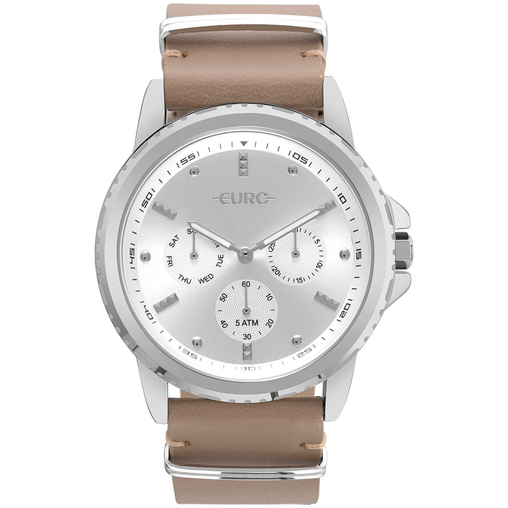 Relógio Euro Masculino Spike Basics Prata - EUVD75AA 3C - timecenter 526db133c6