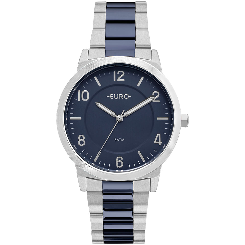 124860a5155 Relógio Euro Feminino Bicolor Trendy Prata - EU2036YLX 5K - timecenter