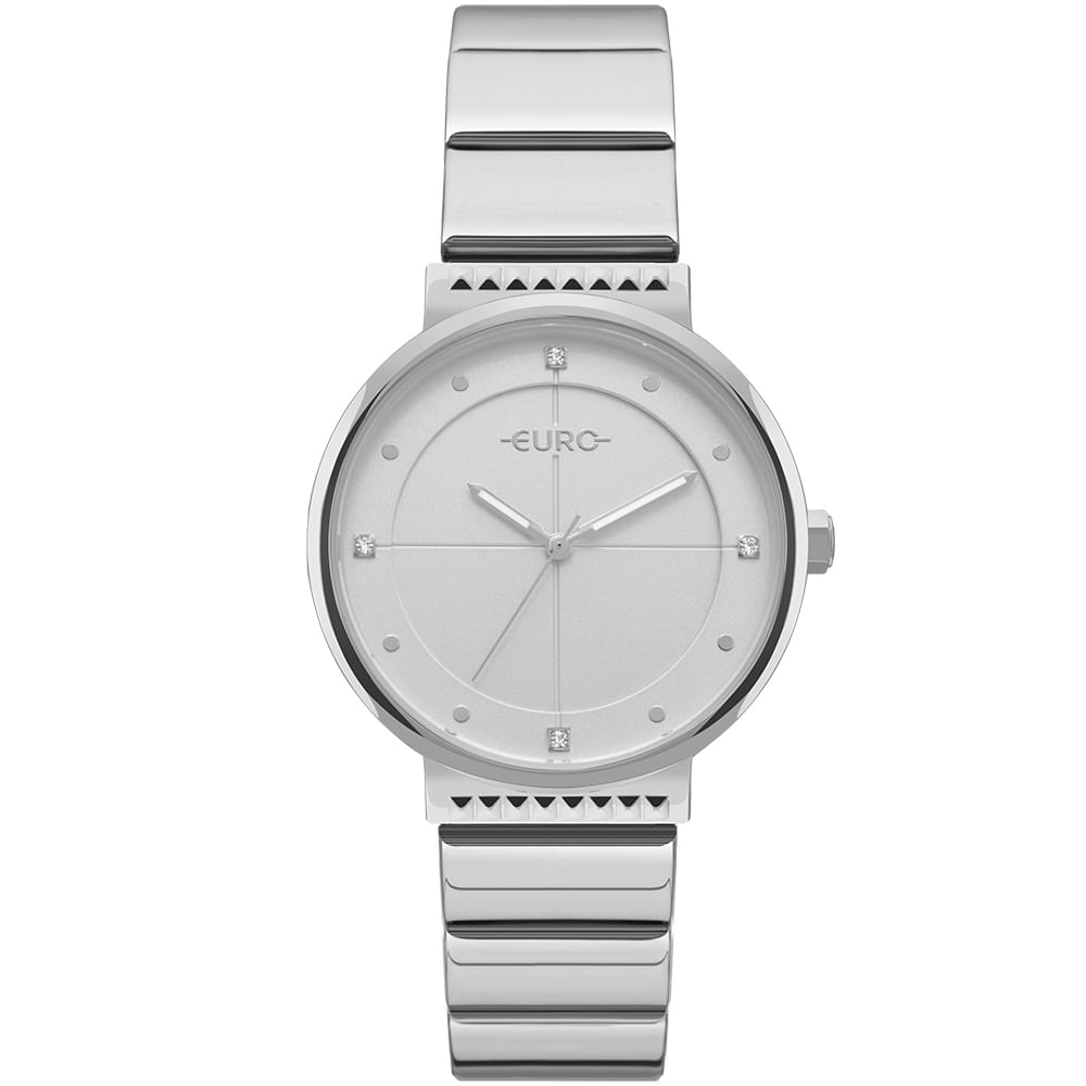 2497f2ae541 Relógio Euro Feminino Spike Slim Prata - EU2035YOC 3K - timecenter