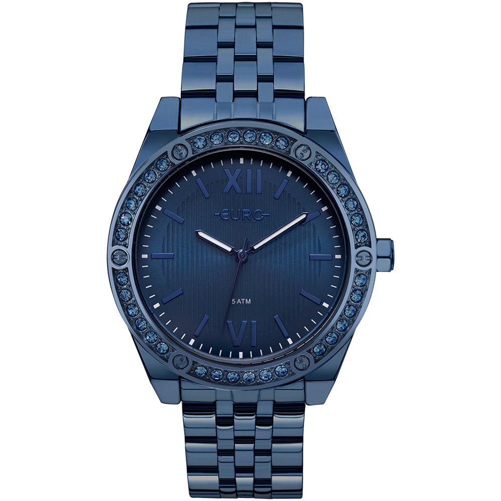 7540513d81 Relógio Euro Feminino Pedras Azul - EU2035YNP 4A - timecenter