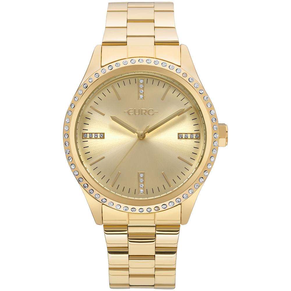 9a03c8ec0df Relógio Euro Feminino Pedras Dourado - EU2035YNT 4D - timecenter