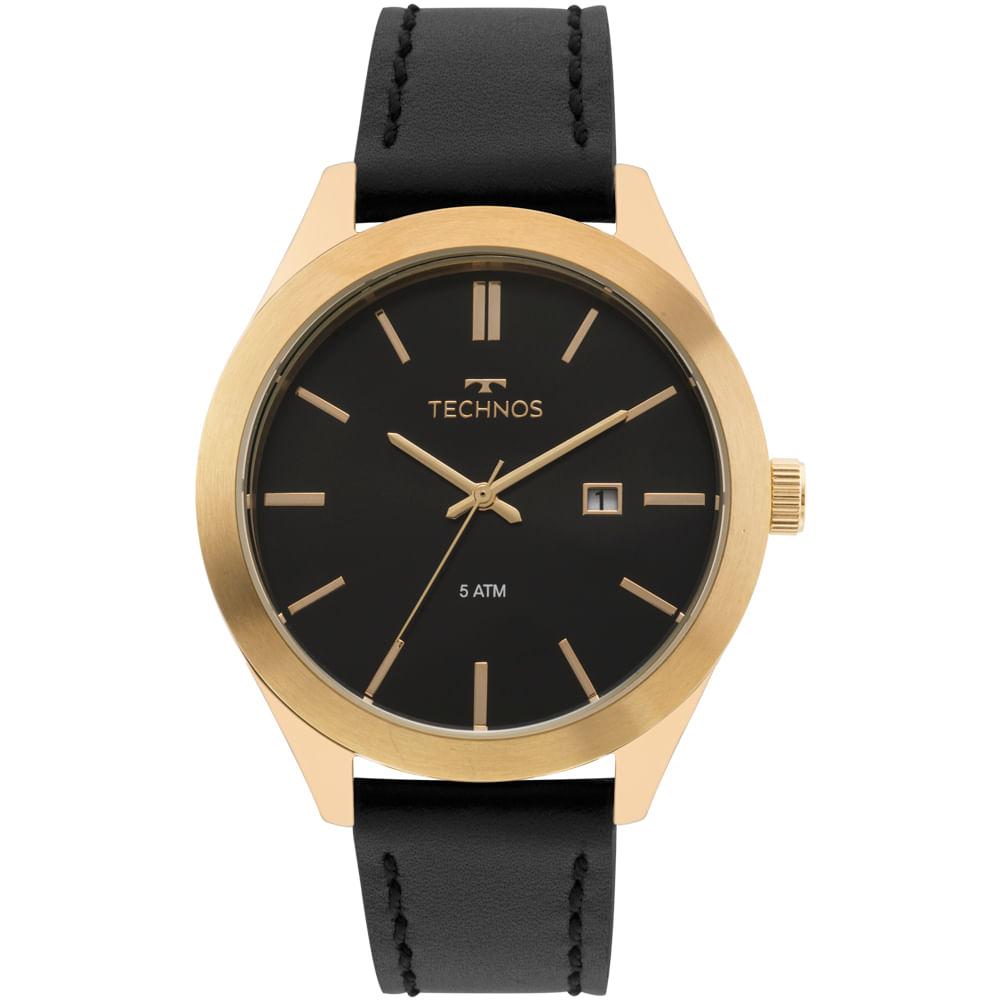 7ccc020e238 2115MNQ0D. 2115MNQ0D. Technos. Relógio Technos Masculino Classic Steel  Dourado ...