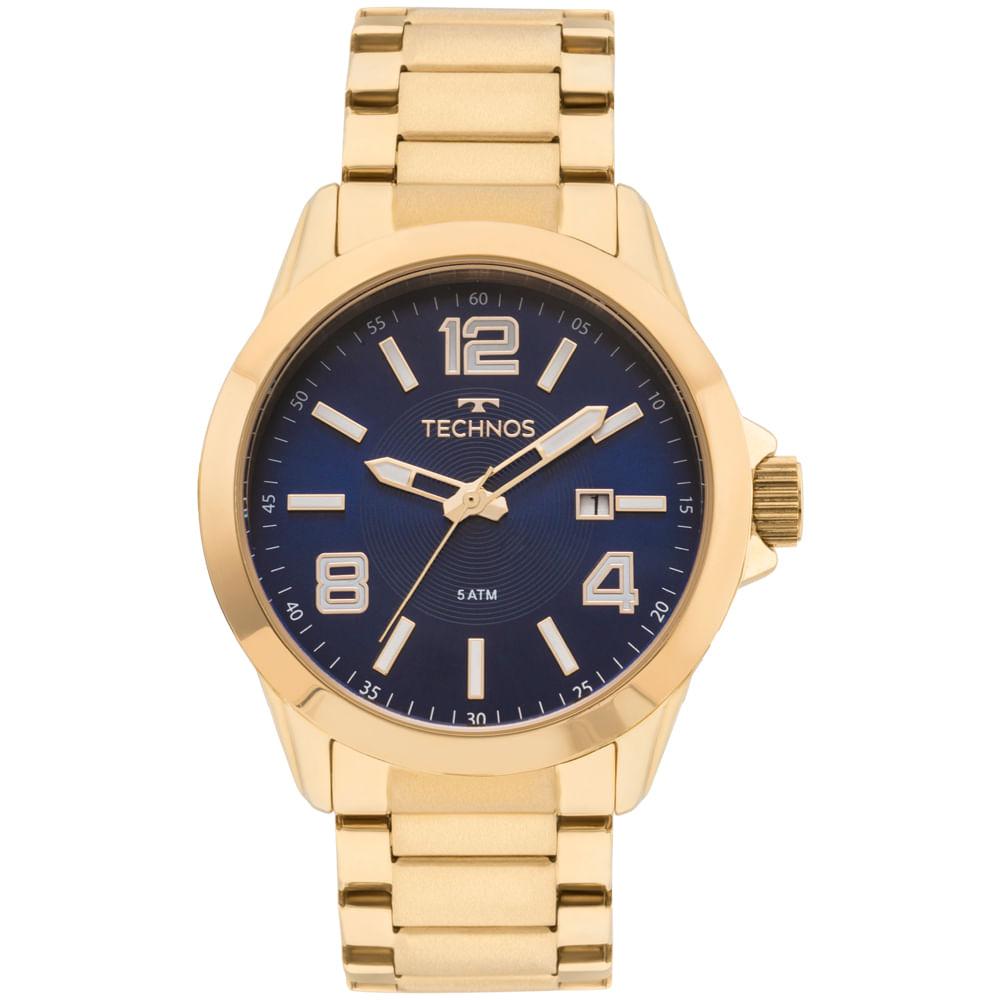 798110bbbad 2115KPR4A. Technos. Relógio Technos Masculino Classic Steel Dourado ...