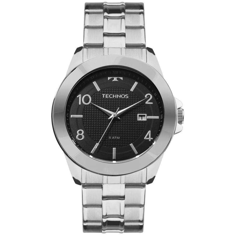 2115KQK1C. 2115KQK1C. Technos. Relógio Technos Masculino Classic Steel Prata  ... 4792418c5a