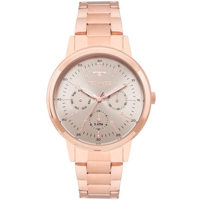 Relógio Technos Elegance Rosé Feminino - 6P29AJG 4C - technos 46dabd49c5