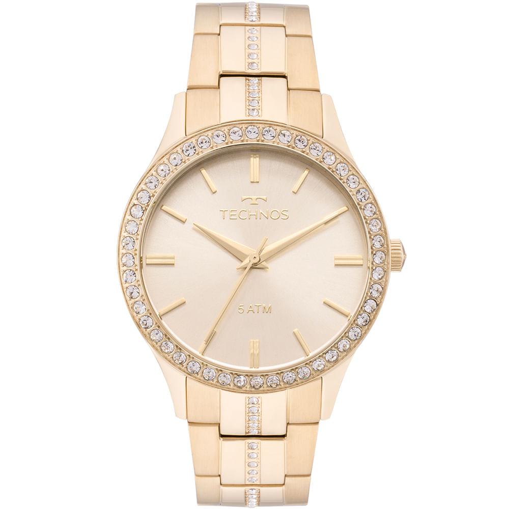 2035MMK4X. 2035MMK4X. Technos. Relógio Technos Feminino Elegance Crystal  Dourado ... 86358bc999