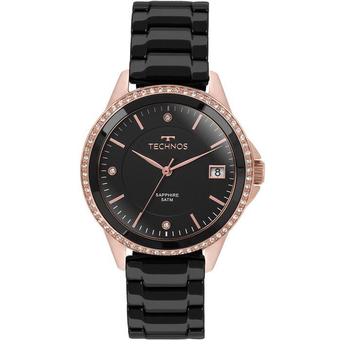 Relógio Technos Feminino Elegance Ceramic Saphire Rosé - 2315KZR 4P ... 28385adbe1