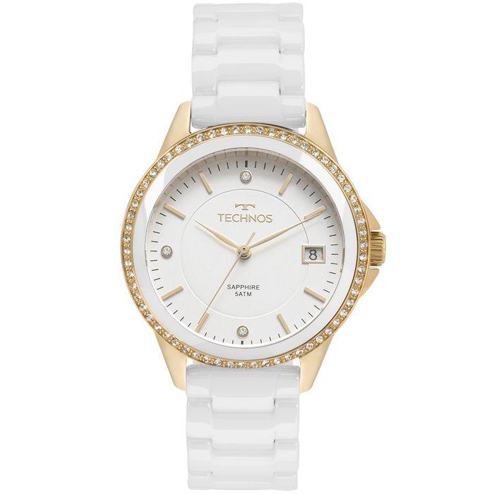 Relógio Technos Feminino Elegance Ceramic Saphire Dourado - 2315KZS ... edfb0cd74d