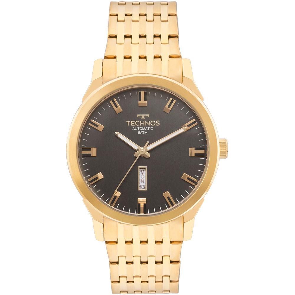 Relógio Technos Masculino Classic Automatico Dourado - 8205OF 4P ... cb20be5b71