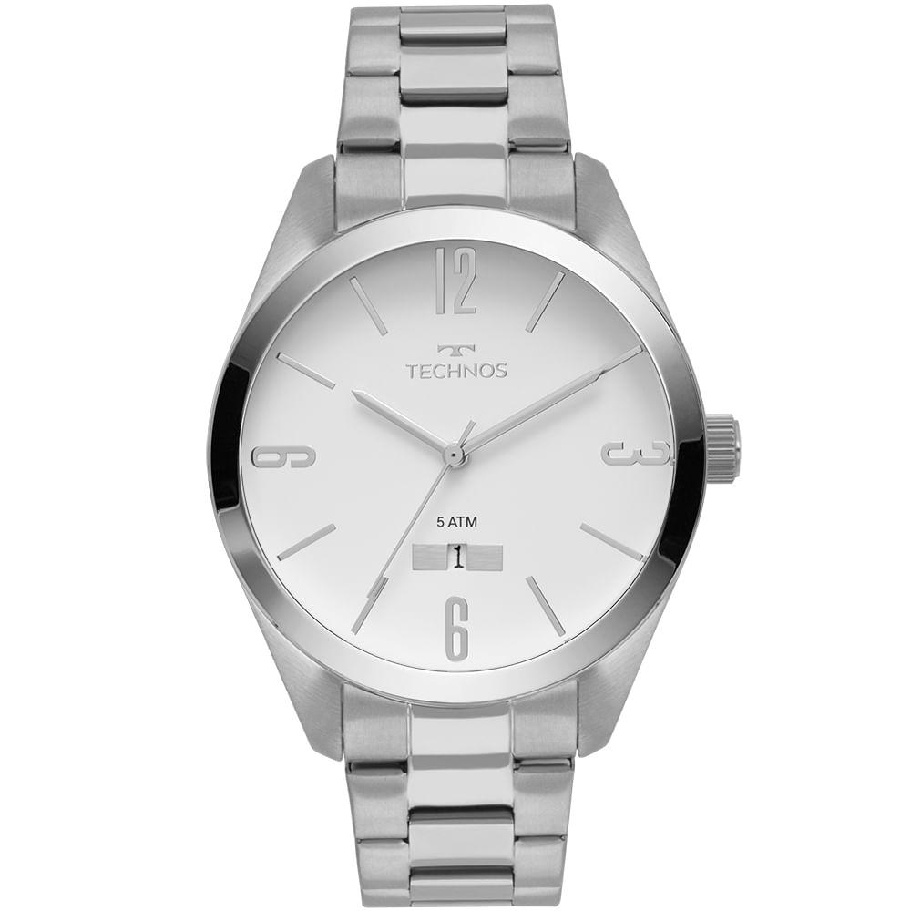 Relógio Technos Masculino Classic Steel Prata - 2115MNU 1B - timecenter 5e349c218d