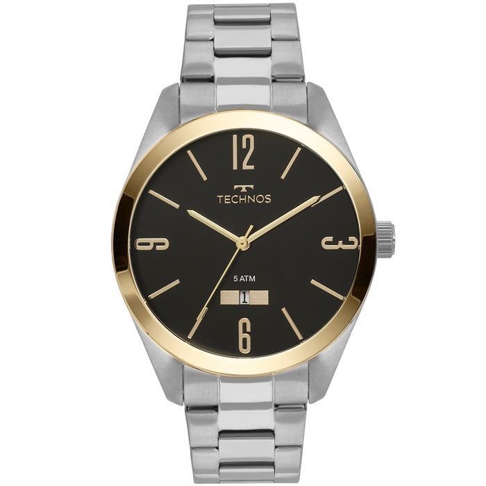 bb4e614632ea7 Relógio Technos Masculino Classic Steel Prata - 2115MNV 1P - technos