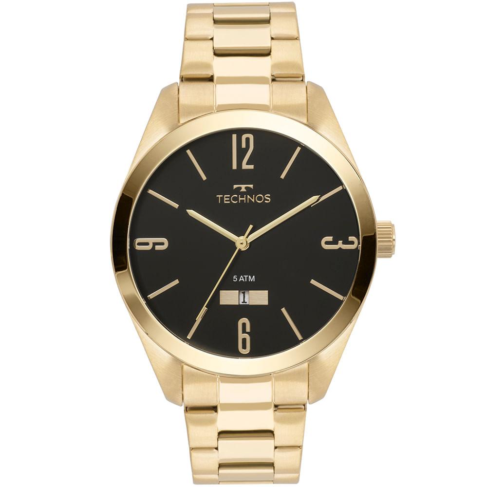 26a89209d37 Relógio Technos Masculino Classic Steel Dourado - 2115MNW 4P ...