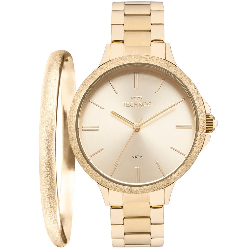 2930d242ac0 Relógio Technos Feminino Fashion Trend Dourado - 2035MMC/K4X - technos