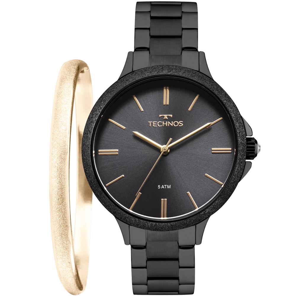 d0499bfeb80 Relógio Technos Feminino Fashion Trend Preto - 2035MMD K4P - timecenter