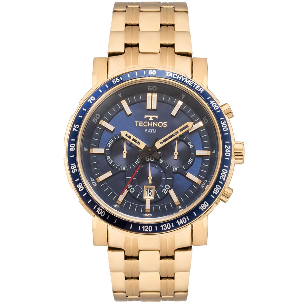 8623dfec945 Relógio Technos Masculino Skymaster Dourado - JS26AJ 4A - timecenter