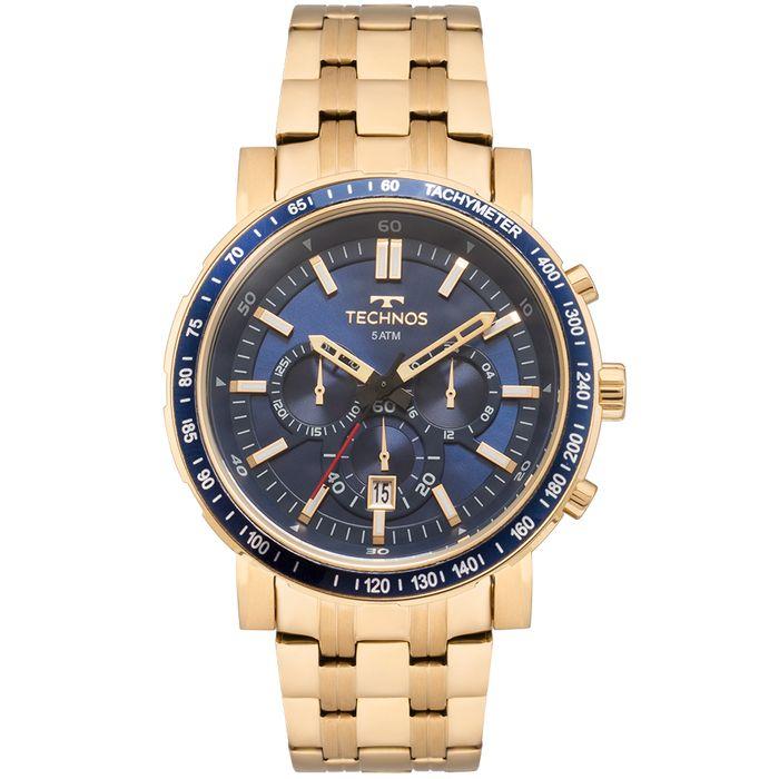 Relógio Technos Masculino Skymaster Dourado - JS26AJ 4A - technos 22069fd2a3