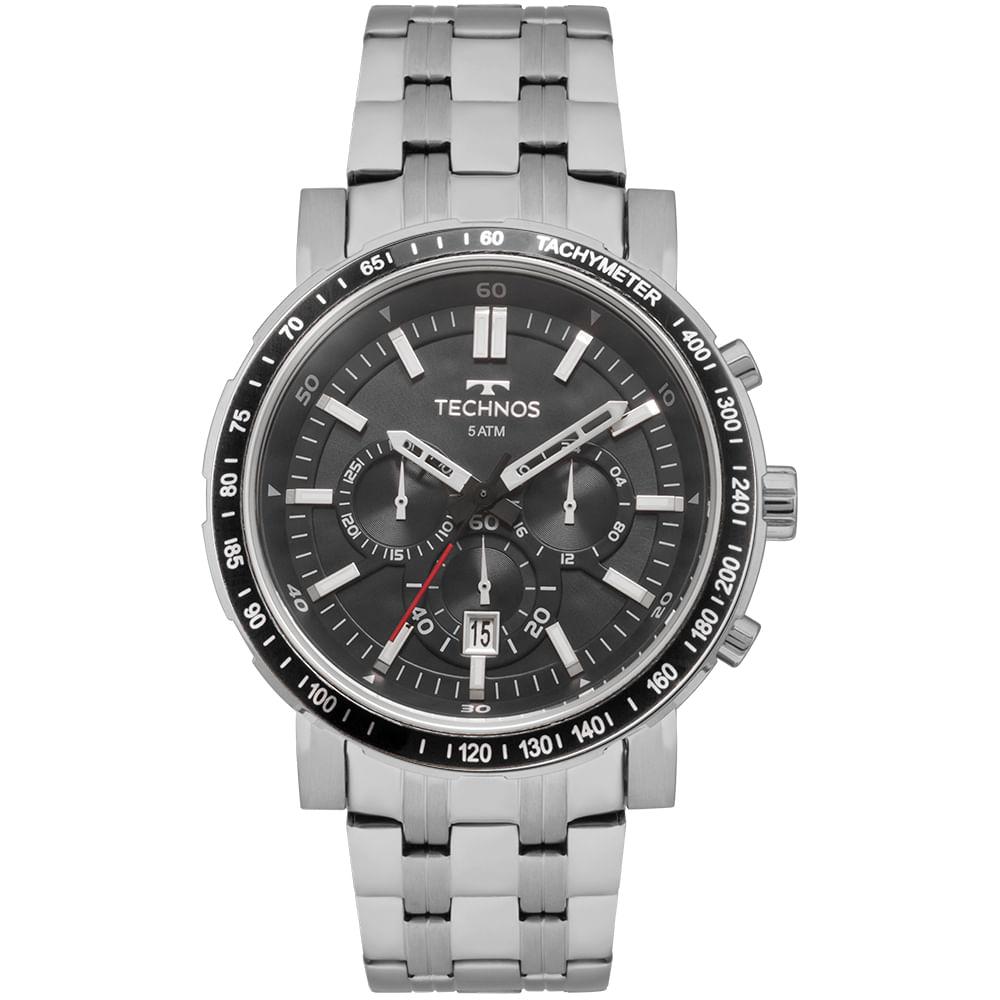 Relógio Technos Masculino Skymaster Prata - JS26AH 1P - timecenter 34940450af