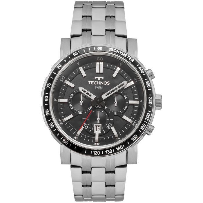 Relógio Technos Masculino Skymaster Prata - JS26AH 1P - technos 1a8d56c1f7
