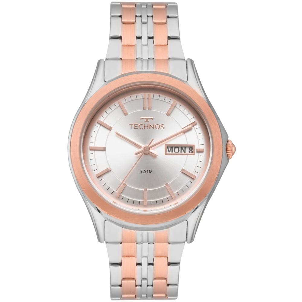 Relógio Technos Feminino Elegance Ladies Bicolor - 8205OD 5K ... 8d8b4426da