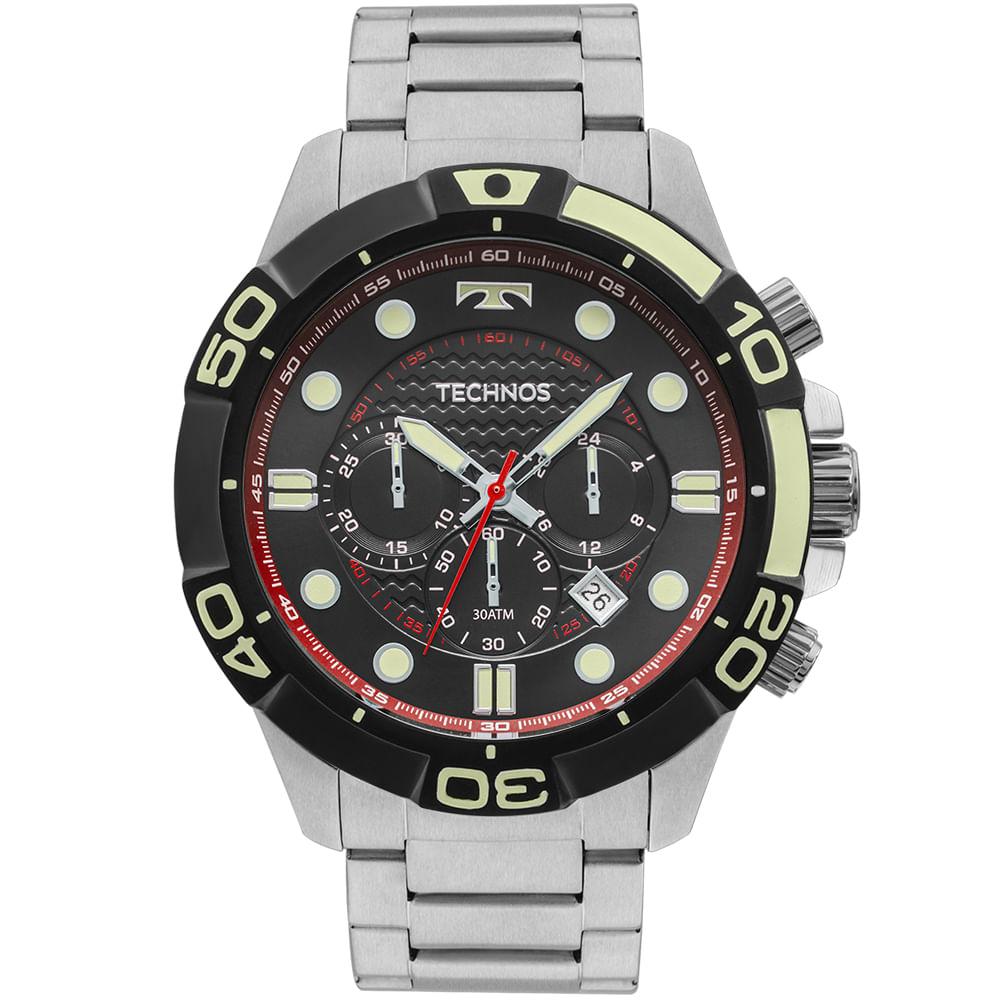 Relógio Technos Masculino Performance Acqua Prata - JS25BP 0P ... 9cc6cecf99
