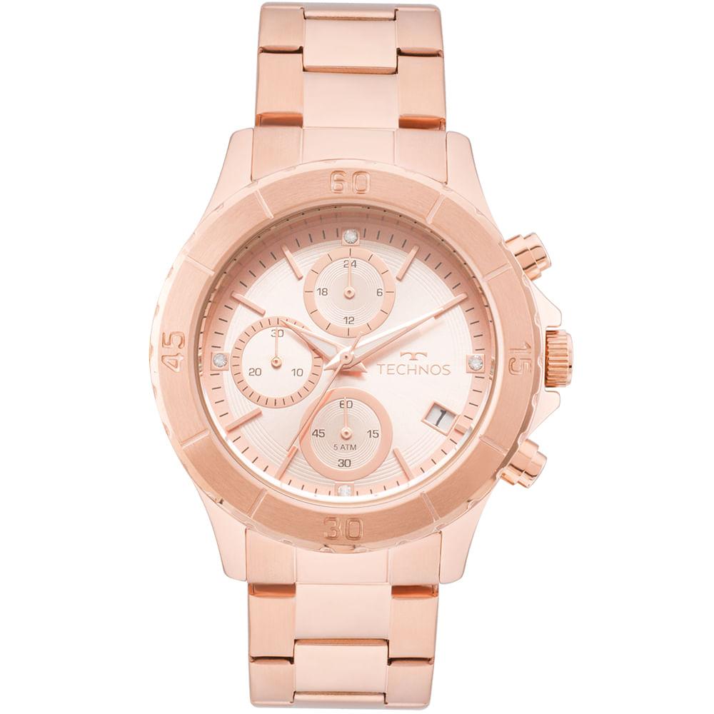6d5fa0858a964 Relógio Technos Feminino Elegance Ladies Rosé - JS15FK 4T - timecenter