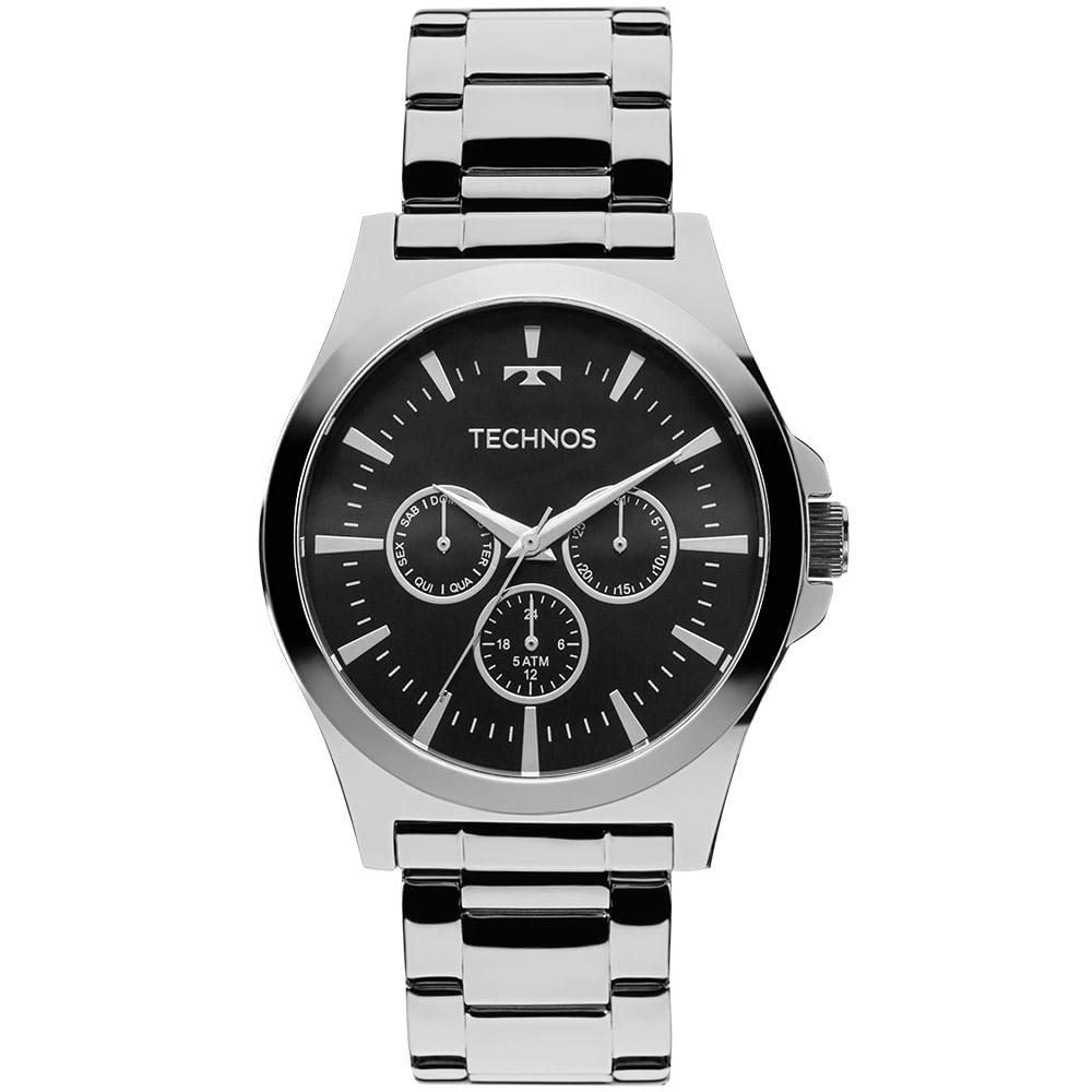 Relógio Technos Masculino Steel Prata - 6P29AJK 1P - timecenter 0b99348510