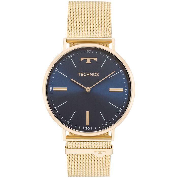 15e3fa62096d0 Relógio Technos Unissex Classic Slim Dourado - 2025LTK 4A - technos ...