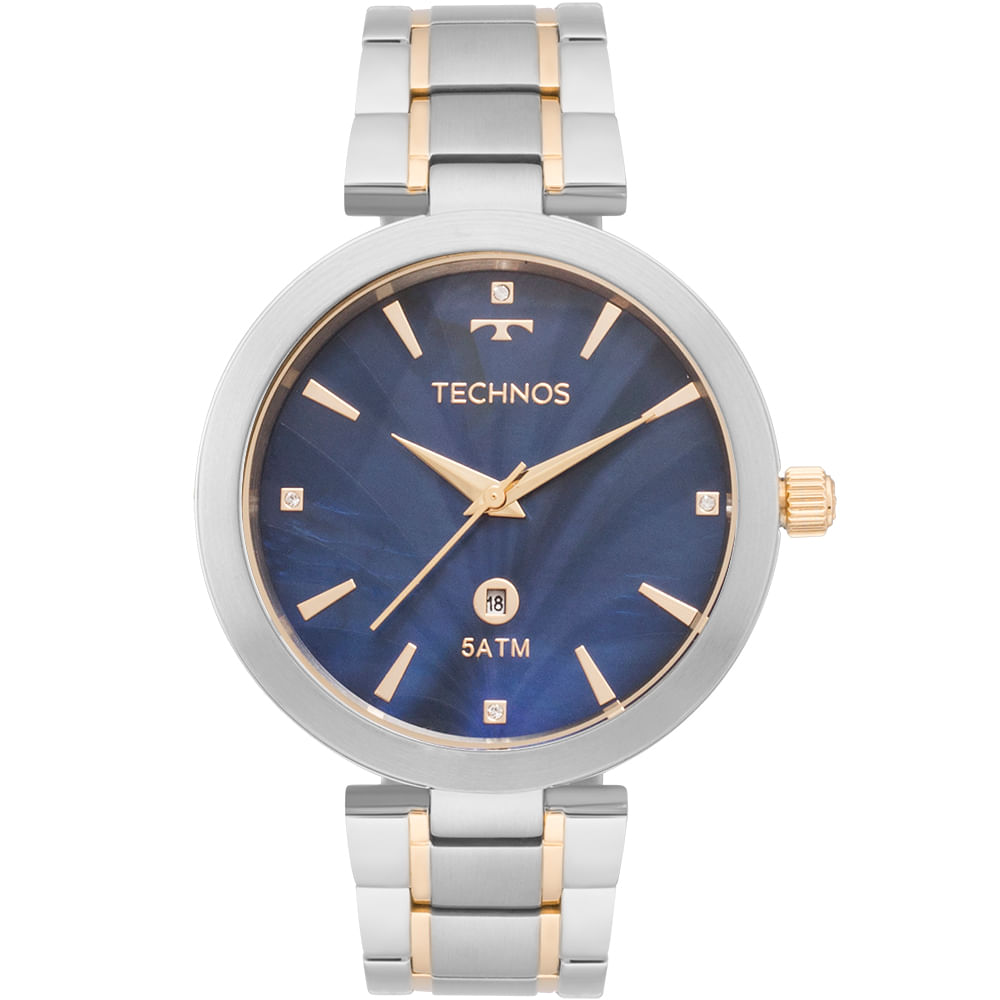 Relógio Technos Feminino Elegance St.Moritz Bicolor - GL10IF 5A ... 7aced55c68
