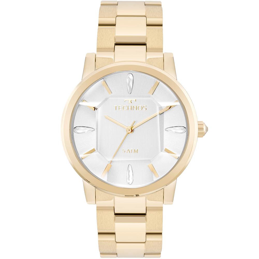 Relógio Technos Feminino Elegance Crystal Dourado - 2039BR 4K ... 8cc416b865
