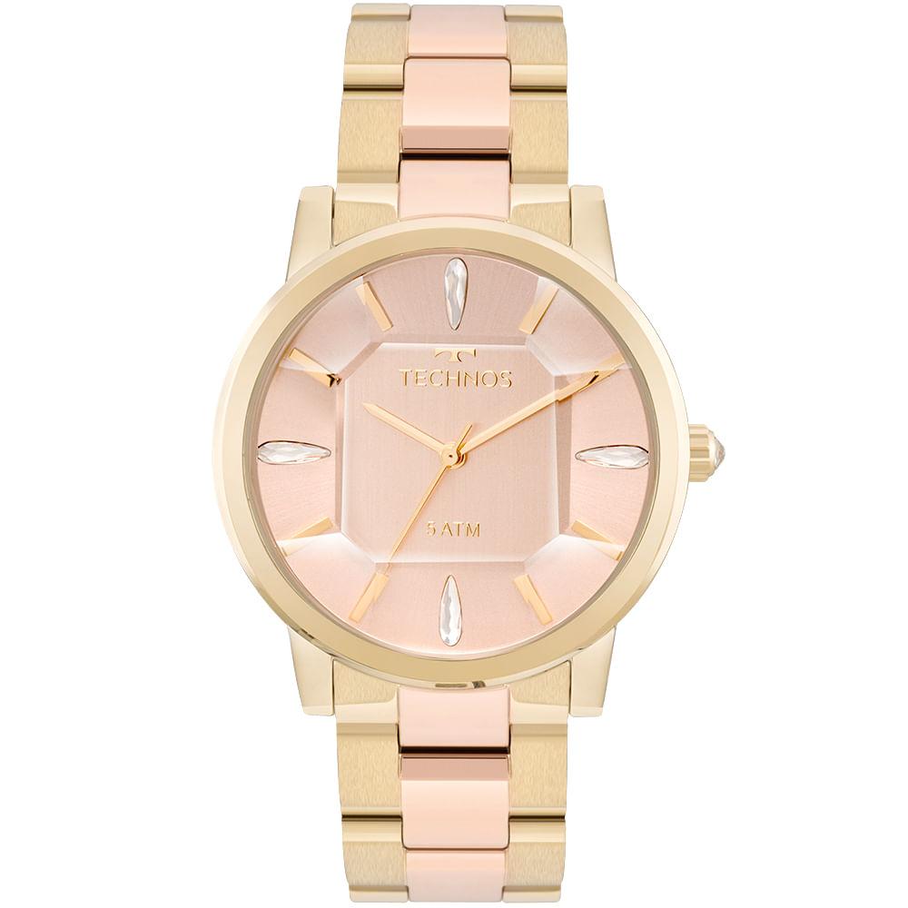 Relógio Technos Feminino Elegance Crystal Bicolor - 2039BS 4T ... c79410f93b