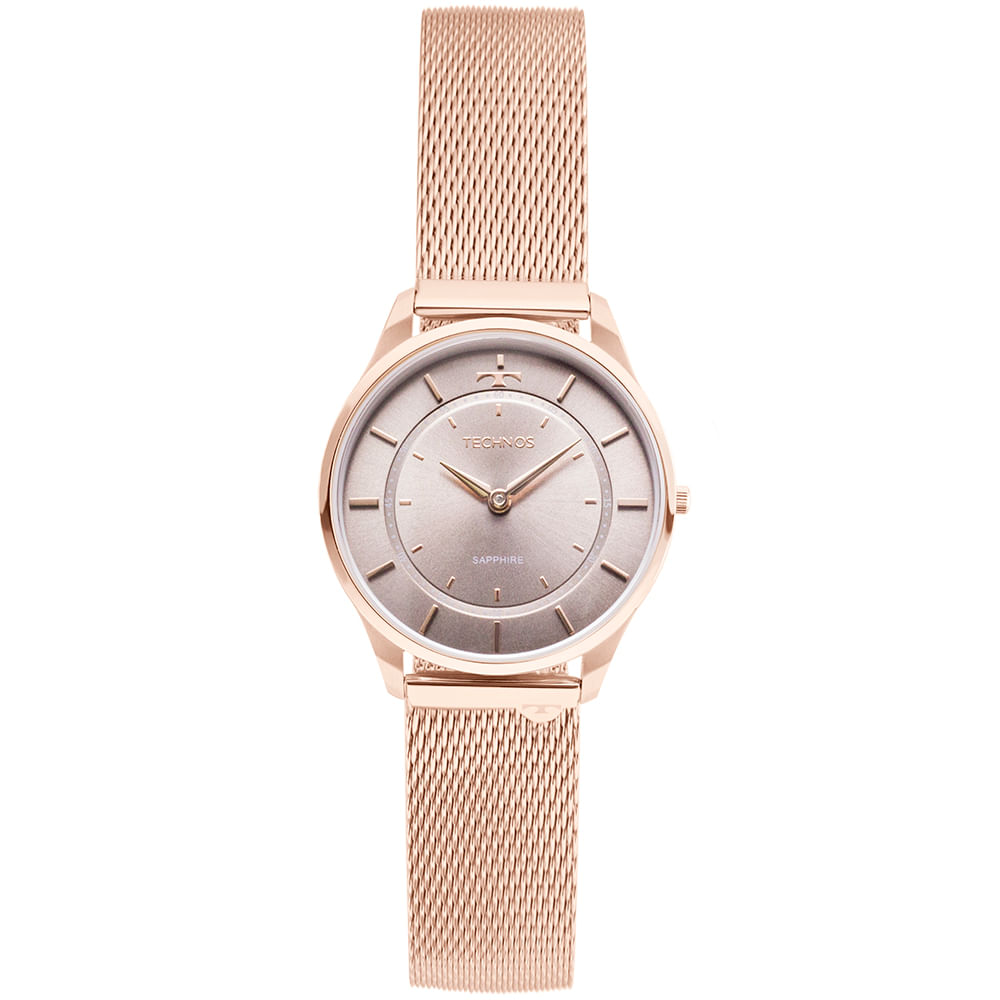 ddbe5751f38 Relógio Technos Unissex Classic Slim Rosé - 9T22AL 4C - timecenter