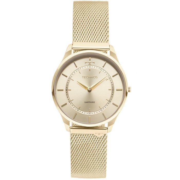 e7900ff4be293 Relógio Technos Unissex Classic Slim Dourado - 9T22AK 4X - technos
