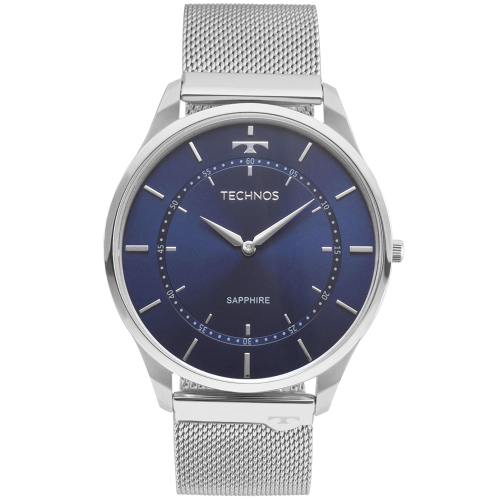 6dfe475353dc8 Relógio Technos Unissex Classic Slim Prata - 9T22AI 1A - timecenter