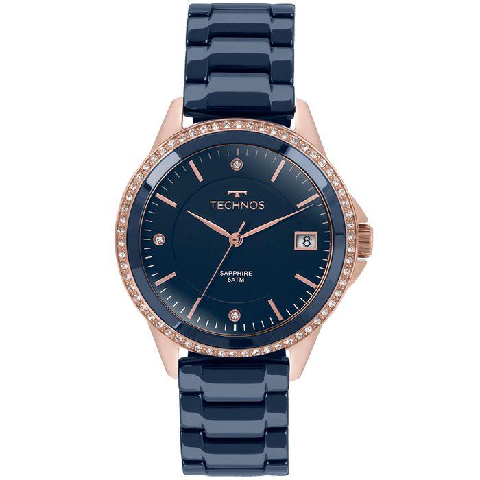 Relógio Technos Feminino Elegance Ceramic Saphire Rosé - 2315KZT 4A ... 204f7afe52