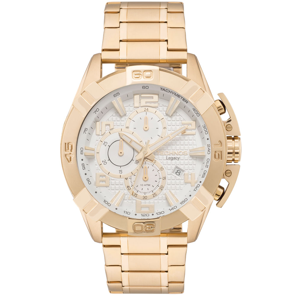 4100c87b0ccea Relógio Technos Masculino Classic Legacy Dourado - JS15BE 4K ...