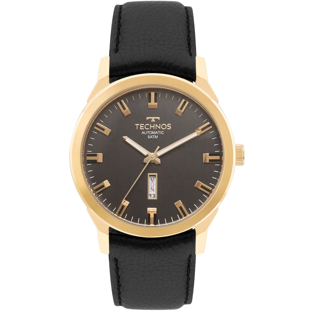 0ae656be244 Relógio Technos Masculino Classic Automatico Dourado - 8205OG 2P ...