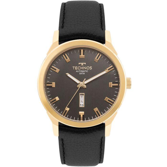 94bd3831efed2 Relógio Technos Masculino Classic Automatico Dourado - 8205OG 2P ...