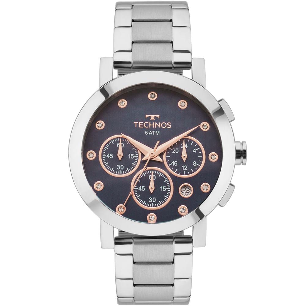 0eac589fb27 Relógio Technos Feminino Elegance Ladies Prata - OS2ABJ 1A - timecenter